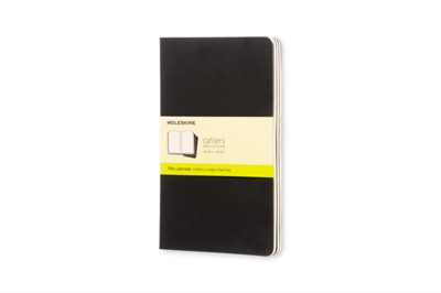 Moleskine Plain Cahier L - Black Cover (3 Set) Moleskine 9788883704970
