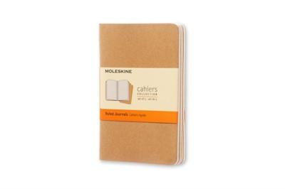 Moleskine Ruled Cahier - Kraft Cover (3 Set) Moleskine 9788883704925