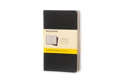 Moleskine Squared Cahier - Black Cover (3 Set) Moleskine 9788883704901