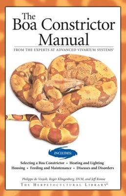Boa Constrictor Manual Jeff Ronne, Roger Klingenberg, Philippe De Vosjoli 9781882770762