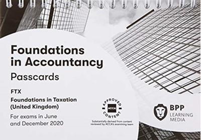 FIA Foundations in Taxation FTX FA2019 BPP Learning Media 9781509728206