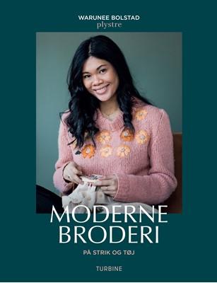 Moderne broderi på strik og tøj Warunee Bolstad 9788740663150