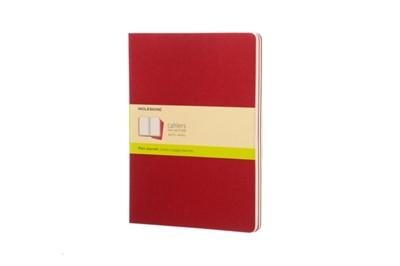 Moleskine Plain Cahier Xl - Red Cover (3 Set)  9788862931090