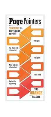 Page Pointers Page Markers - Orange  5035393320058