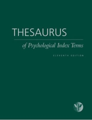 Thesaurus of Psychological Index Terms Lisa Gallagher Tuleya 9781591479260