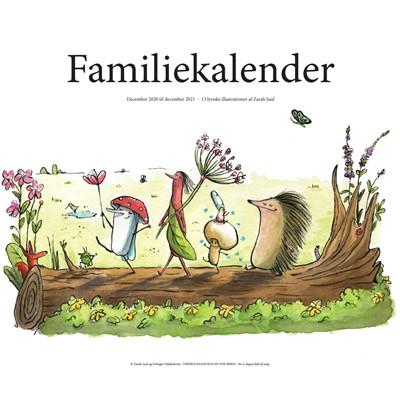 Familiekalender med illustrationer fra Højskolesangbogen for børn Mads Brendes, Kristian Kirk, Joachim Adrian, Hanne Kirk 9788787627993