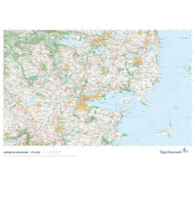 Trap Danmark: Falset kort over Horsens Kommune Trap Danmark 9788771812725
