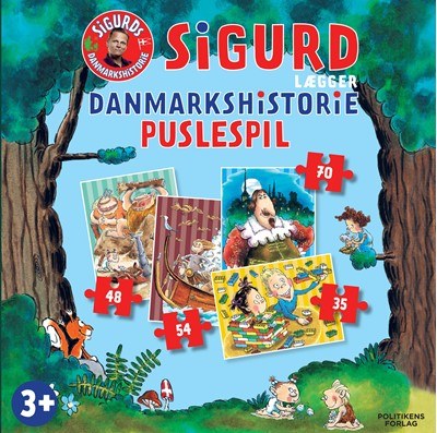 Sigurd lægger Danmarkshistorie puslespil Sigurd Barrett 9788740065169