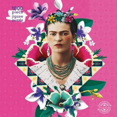 Adult Jigsaw Puzzle Frida Kahlo Pink Ukendt forfatter 9781787556102