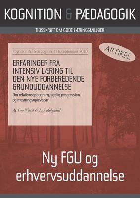 Erfaringer fra intensiv læring til den nye Forberedende Grunduddannelse Tine  Waast, Lise Mølgaard Mølgaard 9788771854732