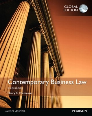 Contemporary Business Law, Global Edition Henry R. Cheeseman, Henry Cheeseman 9781292059358