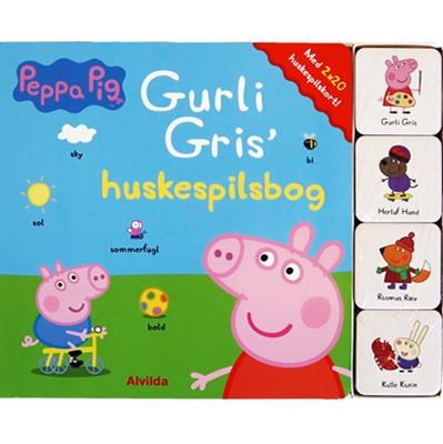 Peppa Pig - Gurli Gris' huskespilsbog (med 2 x 20 huskespilskort)  9788741508740