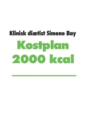 Kostplan 2000 kcal Simone Bay 9788743027003