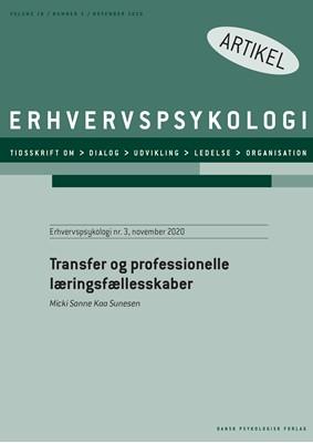 Transfer og professionelle læringsfællesskaber Micki Sonne Kaa Sunesen 9788771854930