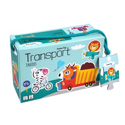 3 Transport Puslespil Ukendt forfatter 5704976055129