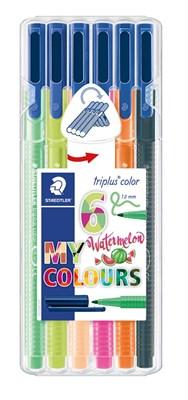 "STAEDTLER Triplus color tusser, 6 stk. ""Watermelon colours""  4007817056905"
