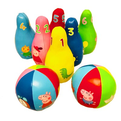 Gurli Gris soft Bowling-Sæt  5704976089902