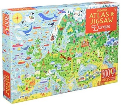 Usborne Atlas and Jigsaw Europe Jonathan Melmoth 9781474948067