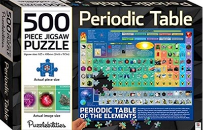 Periodic Table 500 Piece Jigsaw Puzzle Hinkler Books, Hinkler Pty Ltd 9781488936838