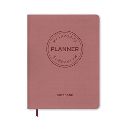 MY FAVORITE PLANNER Notebook / Vintage Rosa Forlaget Aronsen 9788794008150