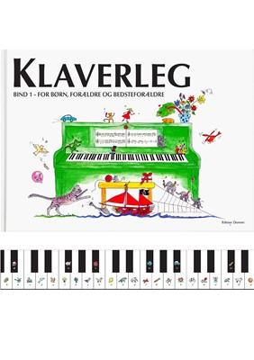 Klaverleg bind 1 - for børn, forældre og bedsteforældre (grøn) Pernille Holm Kofod 9788793603073