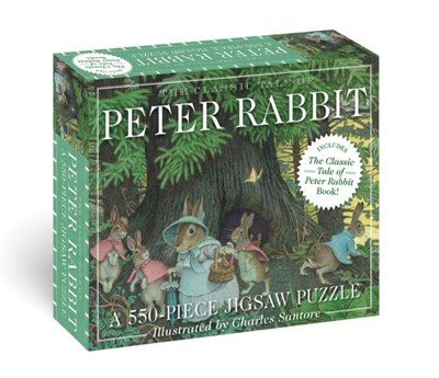 The Classic Tale of Peter Rabbit 200-Piece Jigsaw Puzzle & Book Beatrix Potter 9781646430796