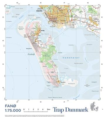 Trap Danmark: Falset kort over Fanø Trap Danmark 9788771812763