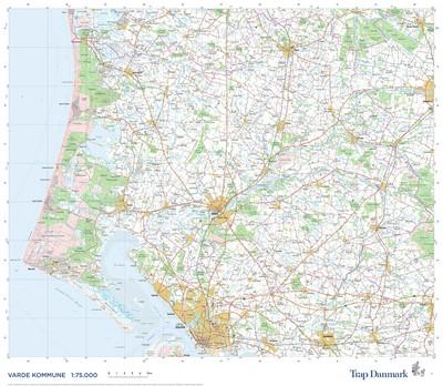 Trap Danmark: Falset kort over Varde Kommune Trap Danmark 9788771812770