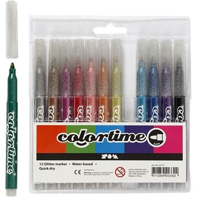 Colortime glittertusch, 12 stk.  5712854203302