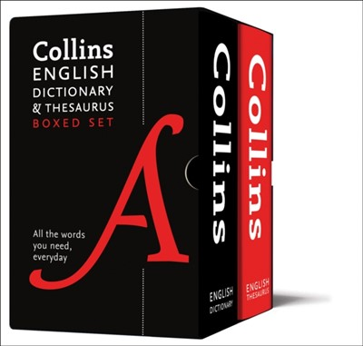 English Dictionary and Thesaurus Boxed Set Collins Dictionaries 9780008309725