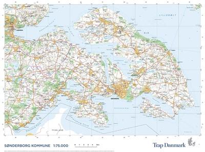 Trap Danmark: Kort over Sønderborg Kommune Trap Danmark 9788771812213