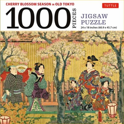 Cherry Blossom Season in Old Tokyo- 1000 Piece Jigsaw Puzzle  9780804854160
